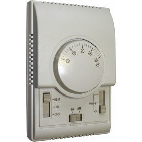 Flowair room thermostat TS, with fan speed controller
