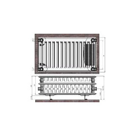 Termolux steel radiator with side connection 33x300x600