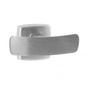 Mediclinics Double hook, AISI 304 stainless steel, satin. 100 x 52 mm