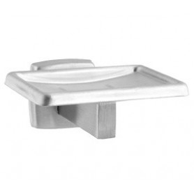Mediclinics Soap dish, AISI 304 stainless steel, satin. L:108 mm