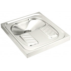 vSquatting pan, AISI 304 stainless steel bright.700 x 600 mm