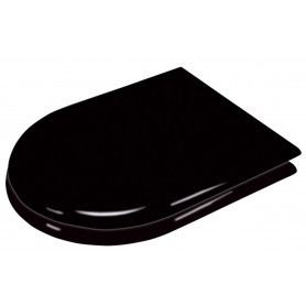 Mediclinics Seat with lit for toilet. Lacquered wood, black colour