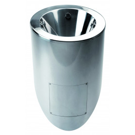Mediclinics Urinal vertical waste pipe outlet, AISI 304 stainless steel bright 365 x 660 mm