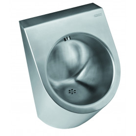 Mediclinics Urinal siphon horizontal outlet, AISI 304 stainless steel satin 360 x 550 mm