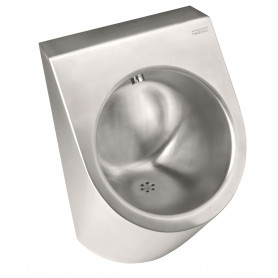Mediclinics Urinal siphon horizontal outlet, AISI 304 stainless steel bright 360 x 550 mm