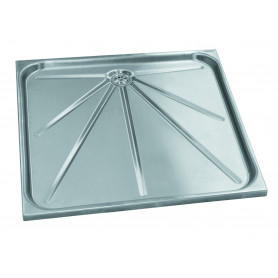 Mediclinics Shower trays, AISI 304 stainless steel satin. 700x700 mm
