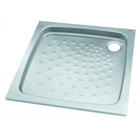 Mediclinics Shower trays, AISI 304 stainless steel satin. 800x800 mm