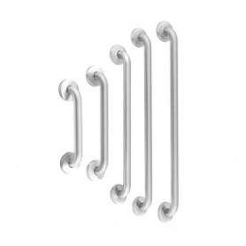 Mediclinics Straight grab bar, AISI 304 stainless steel, bright, L:387 mm
