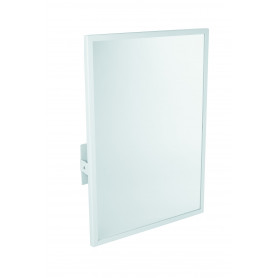 Mediclinics Tilting mirror, frame in steel, white epoxy, L:700 x W:500 mm