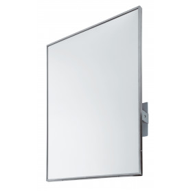 Mediclinics Tilting mirror, frame in AISI 304 stainless steel, satin finish, L:800 x W:600 mm