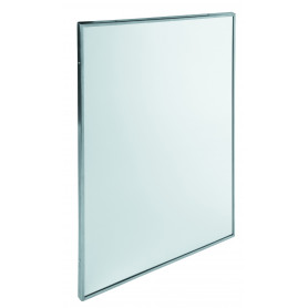Mediclinics Fixed mirror, frame in AISI 304 stainless steel, satin finish L:800 x W:600 mm