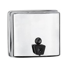 Mediclinics Soap dispenser with inner tank, 1,3 L, horizontal, AISI 304 stainless steel, bright