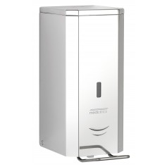 Mediclinics Soap dispenser,spray, 1,5 L, elbow operated AISI 304 stainless steel, bright finish
