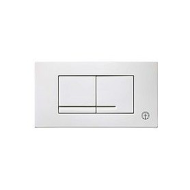 Gustavsberg build in frame WC button panel Duo Triomont XT, white