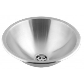Mediclinics Wash basin recessed. AISI 304 stainless steel satin. Outer diameter: 355 mm