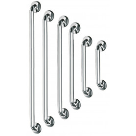 Mediclinics Straight grab bar, AISI 304 stainless steel, bright, L:537 mm