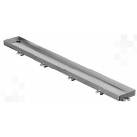 Capricorn channel type shower trap grill, for tiles STONE 600mm, stainless steel