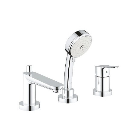 Grohe Bauedge Rim Mounted 3 Hole Bath Mixer With Pull Out