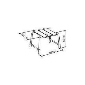 Provex Animo stool for legs 0001BS31, white