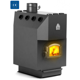 Termofor charcoal air heating oven Professor, with cast iron door, with glass, upper outlet