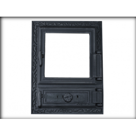 Jugne-L cast iron fireplace door Z-12k, 480x330mm0, with thermo glass