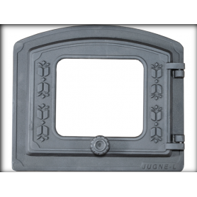 Jugne-L cast iron fireplace door ORK-P 370x320mm, with thermo glass