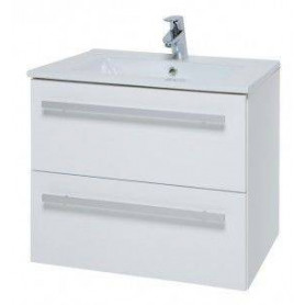 Raguvos Baldai Serena bathroom vanity unit with washbasin 61cm, glosy white 14113311