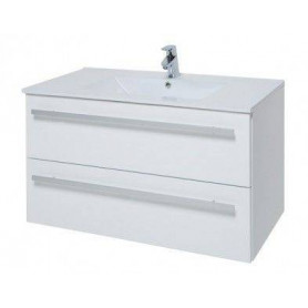 Raguvos Baldai Serena bathroom vanity unit with washbasin 91cm, glosy white 14113611