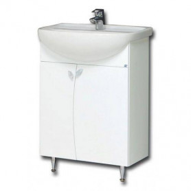 Raguvos Baldai Elza bathroom vanity unit with washbasin EA60-3 60cm, white