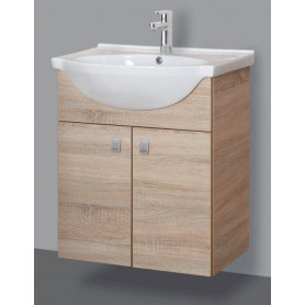 Riva bathroom vanity unit with washbasin SA60-11 sonoma