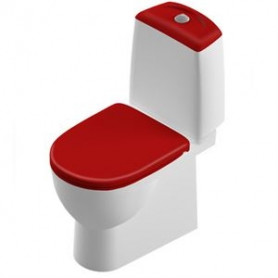 Sanita WC pods Lux Best RED 3/6 litri, Duroplast Soft Close clip up vāks, universāls izvads