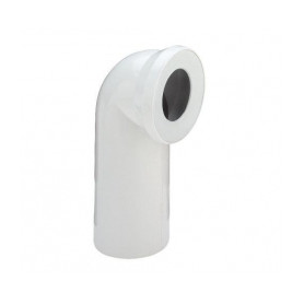 WC toilet bowl connection elbow 75deg, white