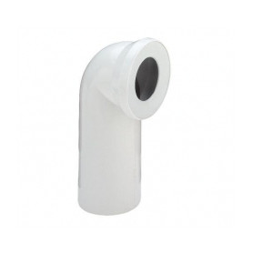 WC toilet bowl connection elbow 90deg, white
