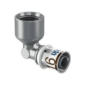 Uponor S-Press PLUS līknis ar vītni i.v. 16-Rp1/2 FT