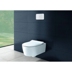 Villeroy Boch Avento wall-mounted WC Combipack, Direct Flush, SlimSeat, 5656RS01