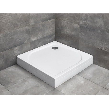 Radaway square shower tray Delos C 90x90, with front panel, acrylic,  4C99170-03