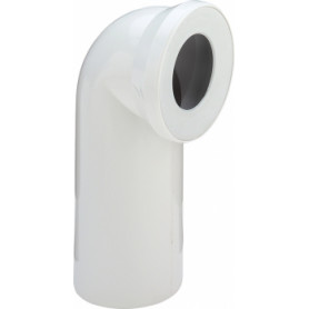 Viega WC toilet bowl connection elbow 90deg, white, 100551