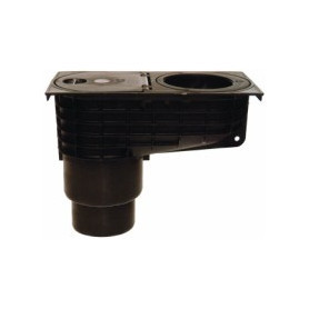 HL660E rain water trap, with inspection hatch DN100, vertical