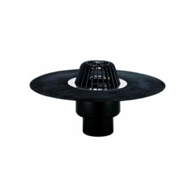 HL62H/1 roof rainwater trap DN100, with insulation and leaf catcher