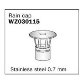 Harvia smoke stack cover Ø 115 mm, stainless steel