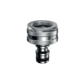 Claber garden watering nozzle, with 3/4 adapter, 1 thread, chrome, 449603