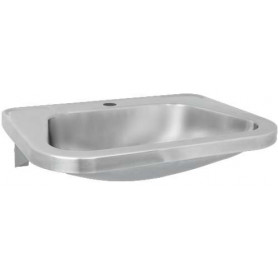 AZP Brno washbasin, wall mounted, cantilever, without tap