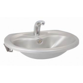 AZP Brno stainless steel washbasin, wall mounted, without tap