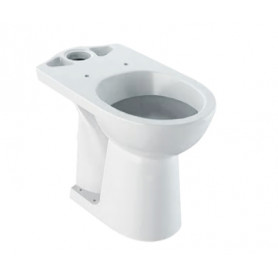 Geberit WC lower part Selnova Comfort, for people with disabilities, elevated model, seat height 46cm, 500.284.01.1