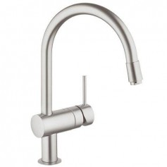 Grohe Minta kitchen mixer, with pull out spout, Supersteel, 32918DC0