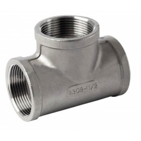 NT stainless steel threaded T-piece 1/4, AISI316 BSP