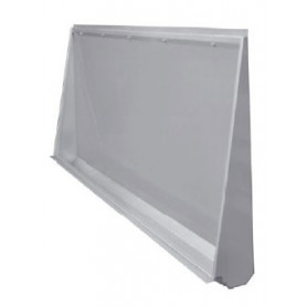 AZP Brno wall-to-floor mounted urinal trough, 1900 mm, mat. thickness 1,5 mm