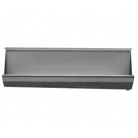 AZP Brno safety stainless steel urinal trough 2500 mm, suspended, mat. thickness 1,5 mm
