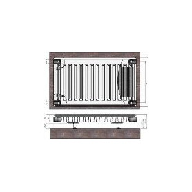 Termolux steel radiator with side connection 22x300x600