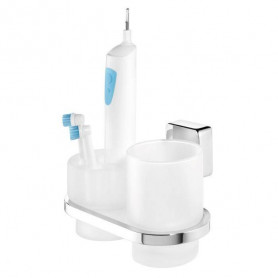 Tiger Impuls glass/ electric toothbrush holder 385330346, chrome